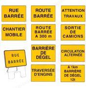 Panneaux de signalisation KC1 ROUTE BARREE-710410 à 710455-30