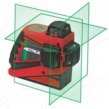 Niveau laser 3 lignes 360 degrés METRICA 3D-G Faisceau vert-200691-31