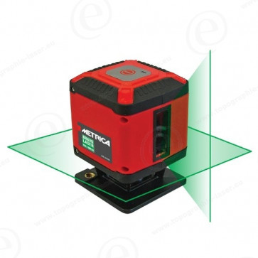 Niveau laser ligne METRICA Laser Box3 faisceau vert - 1 ligne horizontale 360 + 1 ligne verticale