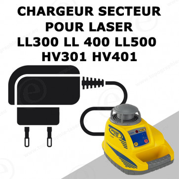Chargeur pour niveau laser rotatif SPECTRA LL300 LL400 LL500 HV301 HV401