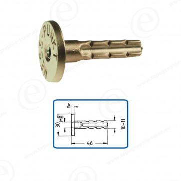 Repère mural M8 laiton à sceller ou à visser Longueur 46mm 11R1 Lot de 100 pièces-680306-31