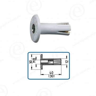 Repère mural M8 plastique Longueur 40mm MESS-PUNKT 11R2-40W Lot de 100 pièces-680308-34