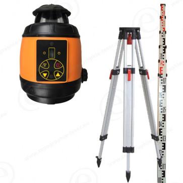 Niveau laser rotatif GEOFENNEL FL180 A en pack avec trépied et mire