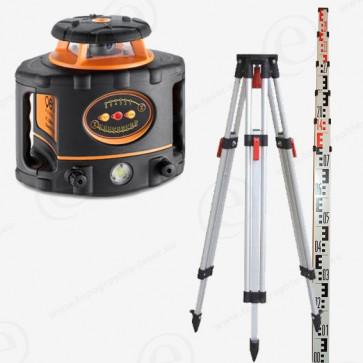 Niveau laser rotatif GEOFENNEL FL300HVG en pack complet trepied mire