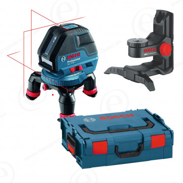 Niveau laser BOSCH GLL 3-50 en pack avec support mural BM1 et coffret LBOXX