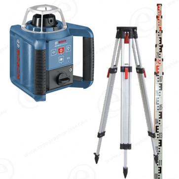 Niveau laser rotatif de chantier BOSCH GRL300HV faisceau rouge