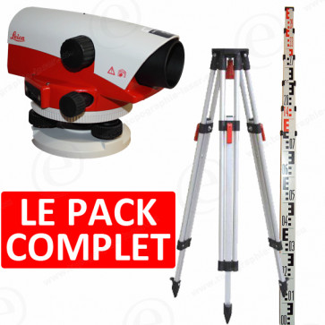Niveau optique de chantier LEICA NA720 en pack avec trépied et mire