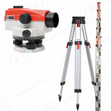 niveau optique de chantier NESTLE NAL28 en pack avec trépied et mire télescopique 4m