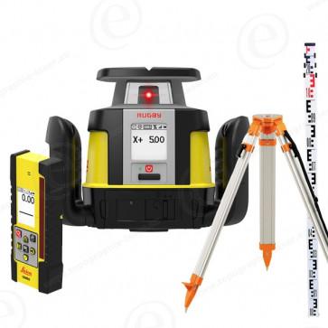 Niveau laser rotatif de chantier LEICA Rugby CLX500 avec Cellule COMBO + Trépied + mire-201240+301106+311100-315
