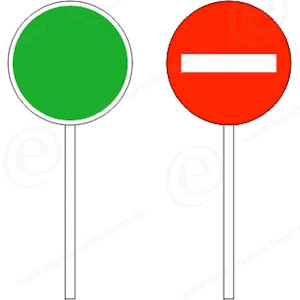 piquet K10 feu rouge feu vert