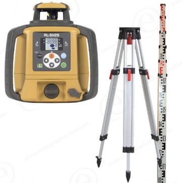 Niveau laser rotatif TOPCON en pack avec trépied et mire alu 4m