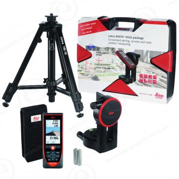Télémètre laser Leica DISTO S910 P2P en pack complet avec trépied TRI70 et adaptateur de mouvements fin FTA 360-S-430044-313