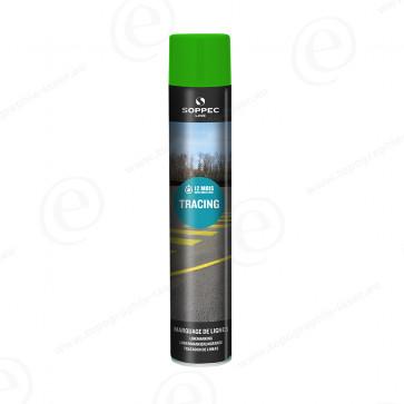 Bombe de peinture soppec tracing verte traceur de chantier