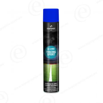 Bombe de peinture Soppec Tracing Sport bleu tranceur pour gazon