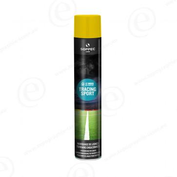 Bombe de peinture Soppec Tracing Sport jaune tranceur pour gazon