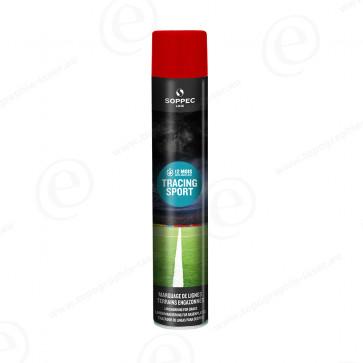Bombe de peinture Soppec Tracing Sport rouge tranceur pour gazon