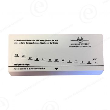 Vitromètre manuel pour mesurer l'épaisseur d'une vitre
