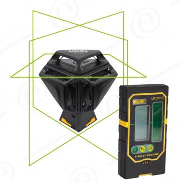 Niveau laser ligne automatique STANLEY X3-360 GREEN Faisceau vert LD200-G-200490+215814G-318