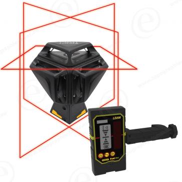 Niveau laser ligne STANLEY X3 Rouge avec cellule de reception LD200