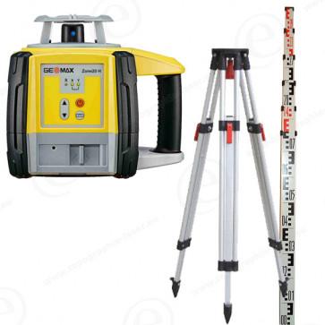 Niveau laser GEOMAX Zone 20H en pack avec trépied et mire alu 4m