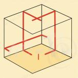 niveau laser 3 lignes futech multicross 3 red topographie laser. Black Bedroom Furniture Sets. Home Design Ideas