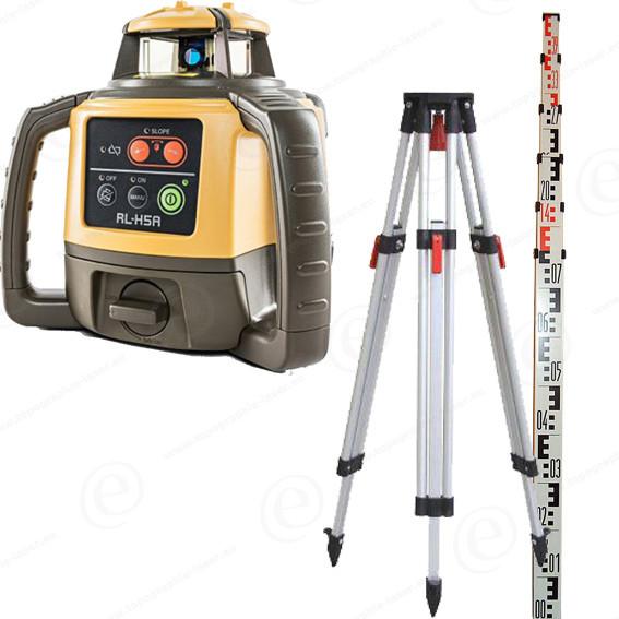 08e1080c1139e Niveau laser rotatif TOPCON RLH5A en pack avec trépied et mire alu