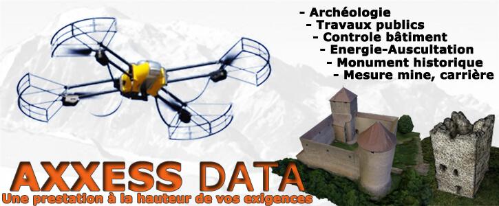 Axxess Data - pilotage de drone pour le BTP