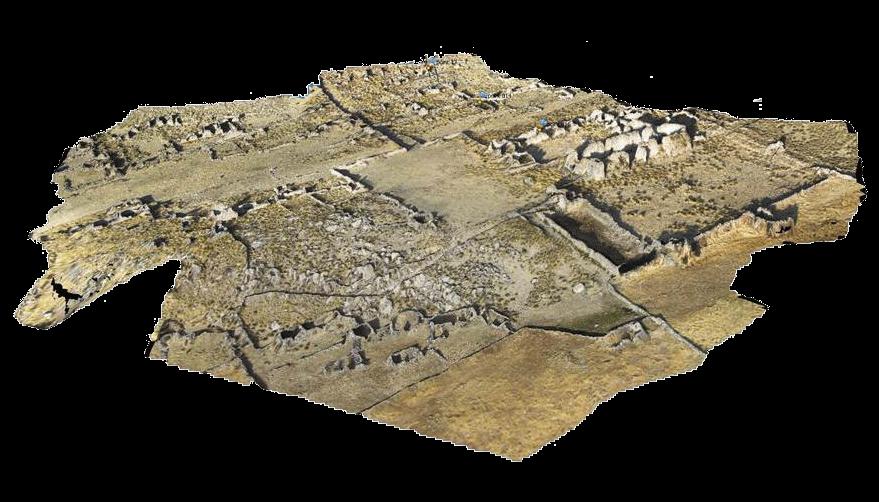 Survole d'une zone archeologique