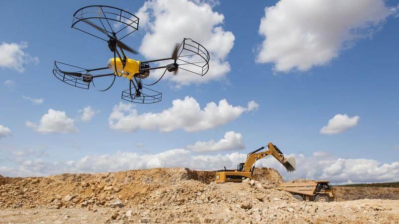 Utilisation du drone sur des chantiers