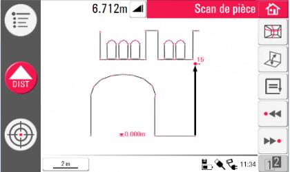 Telemetre LEICA 3D Disto - Croquis en temps réel sur tablette tactile