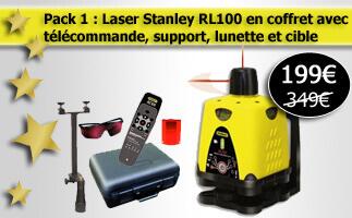 niveau laser rotatif stanley rl100 pas cher. Black Bedroom Furniture Sets. Home Design Ideas