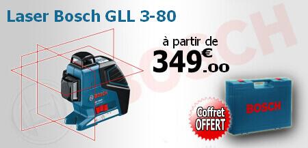 Promotion sur le laser bosch GLL 3-80