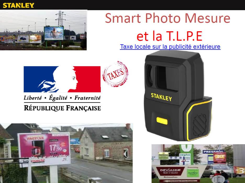 telemetre laser stanley smart photo mesure pour TLPE Taxe locale sur la publicité extérieure
