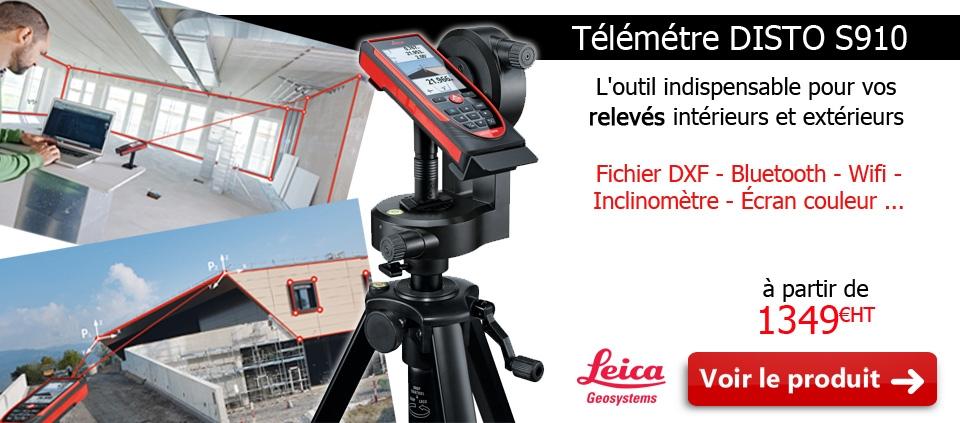Télémètre laser LEICA Disto S910 en pack avec technologie P2P