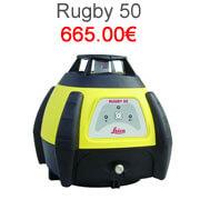Niveau laser chantier automatique, pas cher et robuste, simple d'utilisation pour le laser Leica Rugby 50