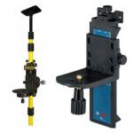 accessoires laser : canne telescopique pour laser et support mural pour laser